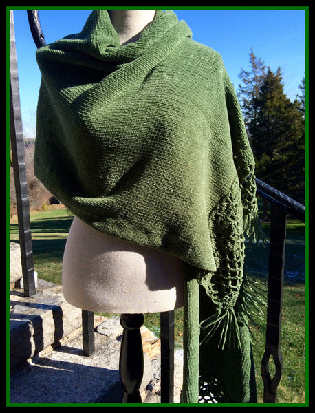 Thick Green Scarf