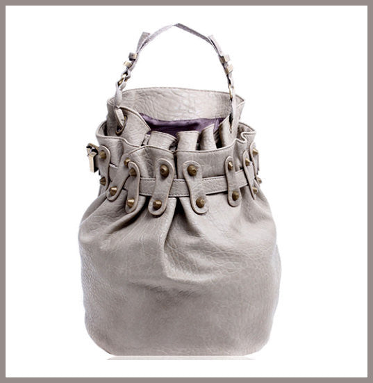 Grey Bucket Handbag