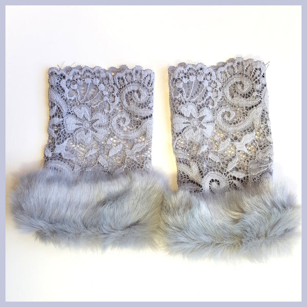 Grey Lace Gloves