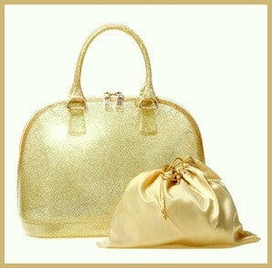 Gold Sparkle Jelly Bag