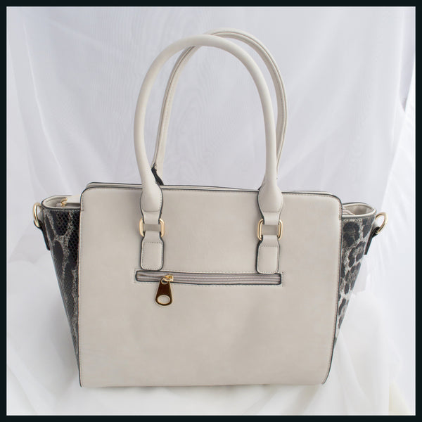 Grey & Leopard Handbag