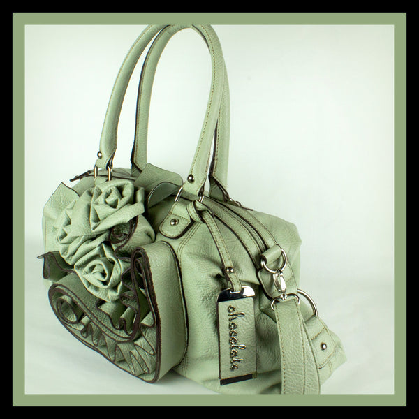 Mint Rosette Satchel