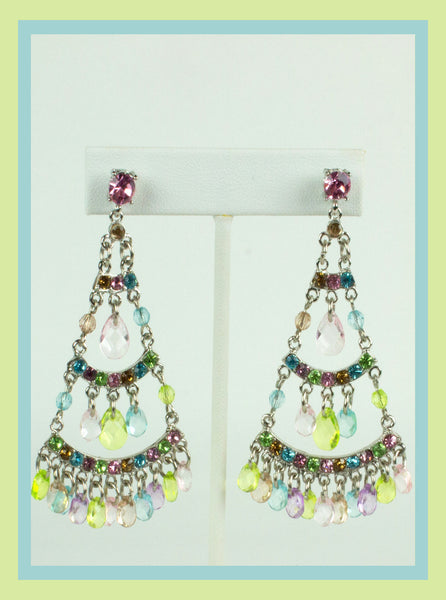 Pastel Chandelier Earrings