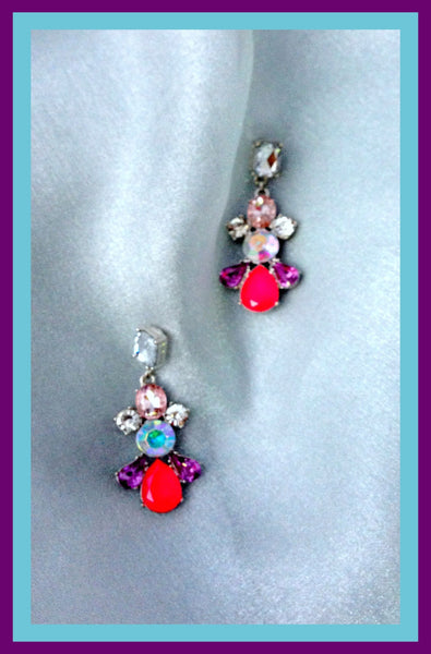Multi-Colored Iridescent Earrings
