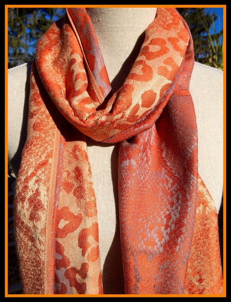 Orange and Silver Scarf