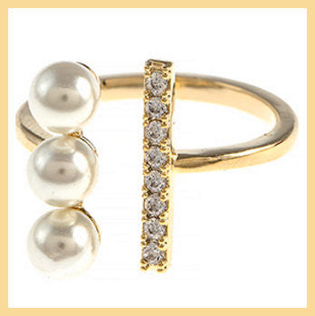Pearl/Cubic Zirconia Ring