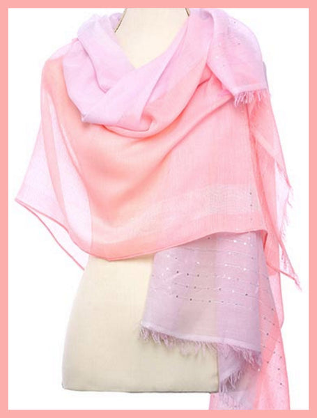Two-Tone, Pink Sparkle Scarf