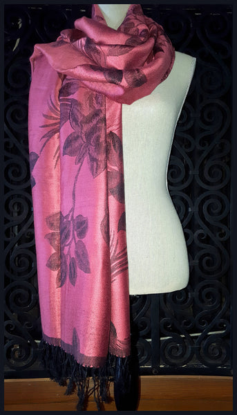 Rose Colored Pashmina Scarf