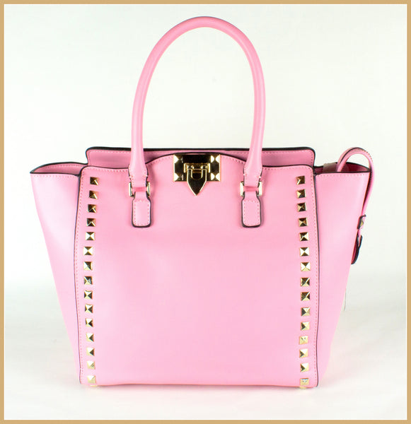 Pink Studded Tote