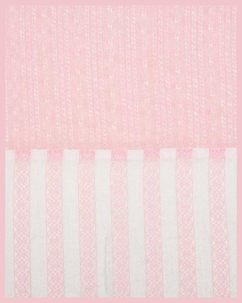 Pink & White Stripe Infinity Scarf