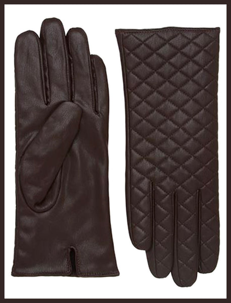 Brown Quilted Gloves