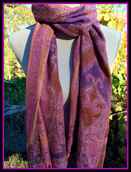 Purple Patterned Scarf