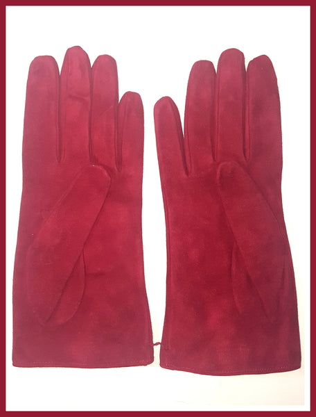 Moschino Red Bow Gloves Size 8