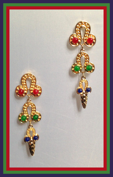 Colorful Horseshoe Earrings