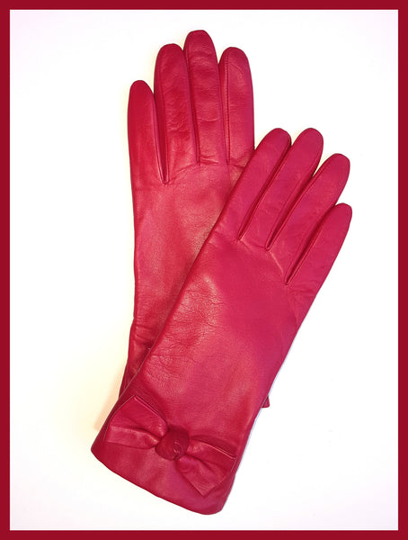 Red Kate Spade Bon Bon Bow Gloves