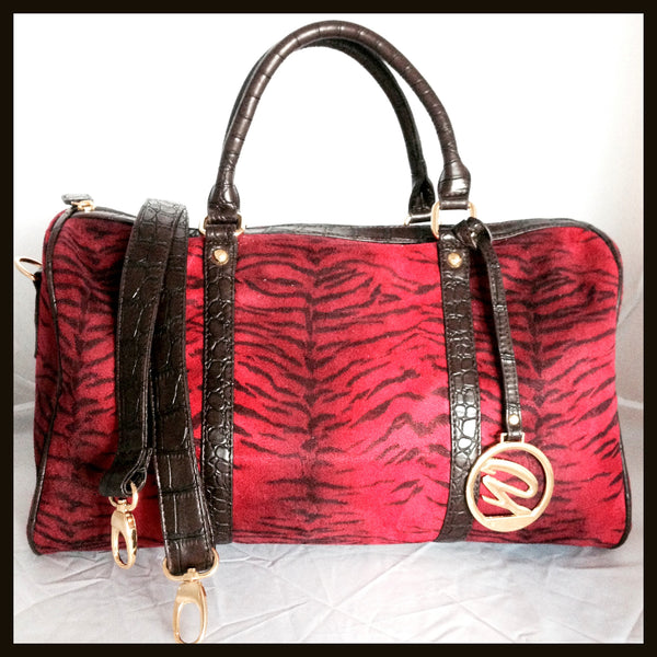 Red Zebra Print Handbag
