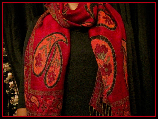 Red, Orange, and Black Scarf