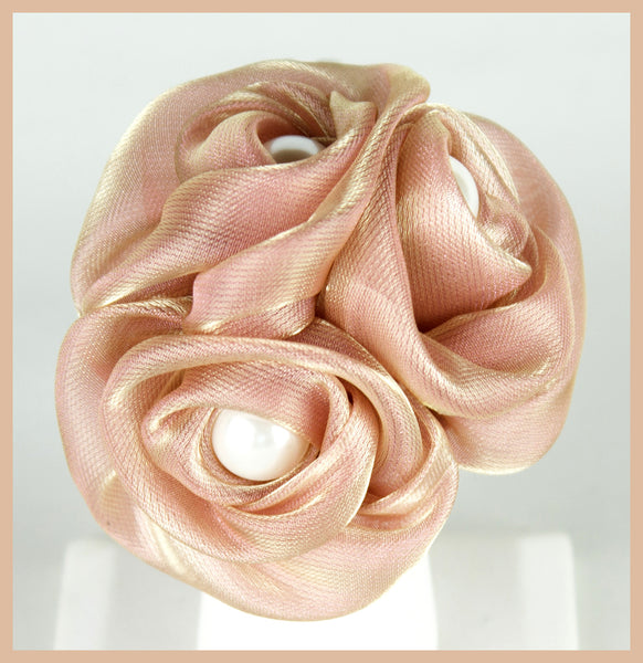 Pink Triple Rose Ring