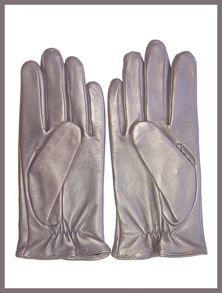 Silver Leather Gloves