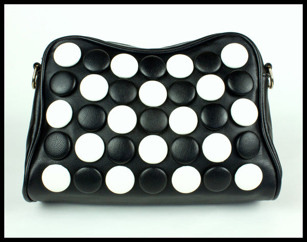 Black & White Polka Dot Clutch