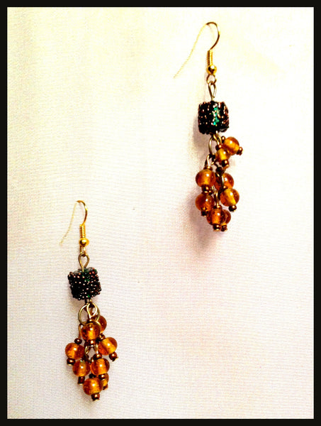 Amber Beaded Earrings