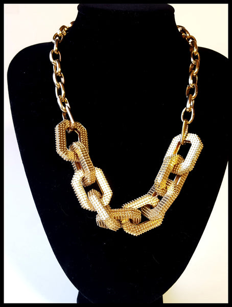 Supra Link Gold Tone Necklace