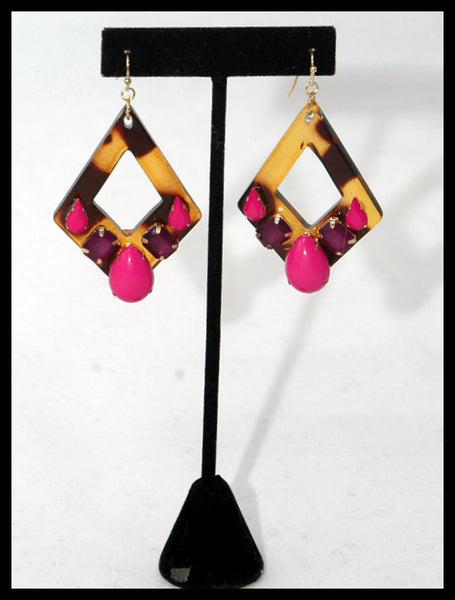 Tortoise Contemporary Earrings