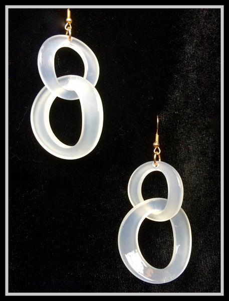 Lucite Double Link Earrings