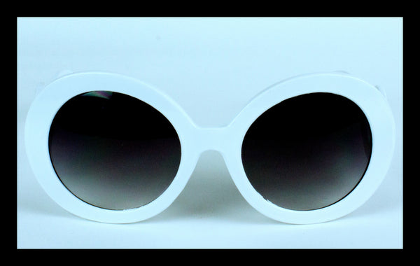 White Baroque Sunglasses