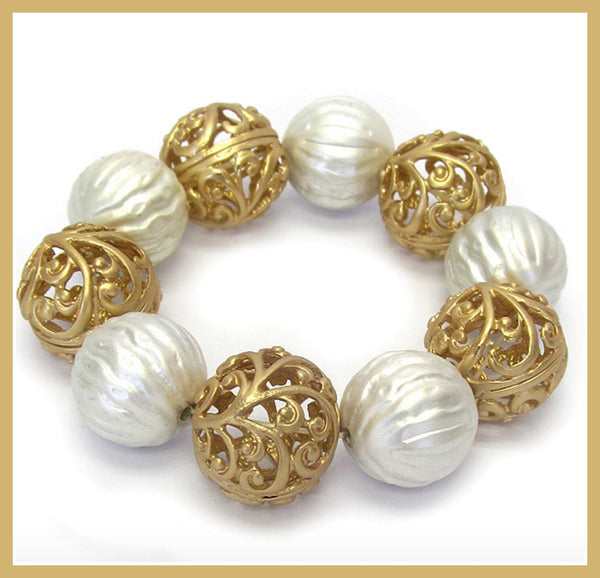 Textured Metal Ball Bracelet