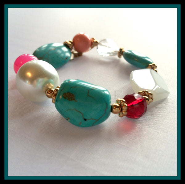 Turquoise & Pearl Bracelet