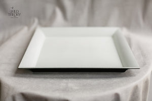 White Square Charger Plate