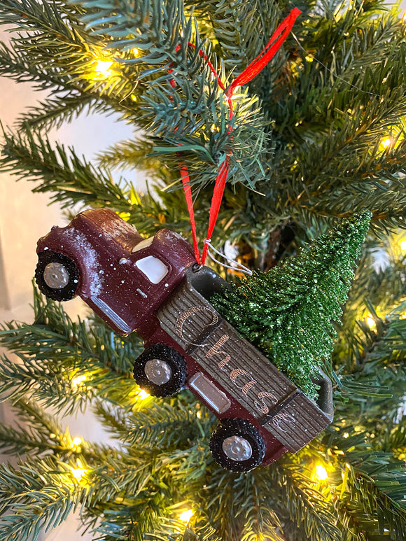 Truck with Bristle Tree