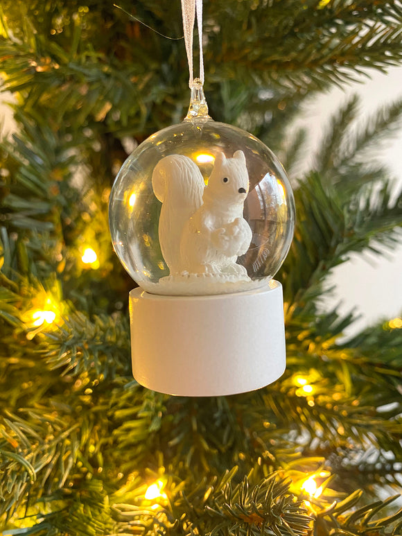 Animal Snow Globe - Squirrel (Personalized)
