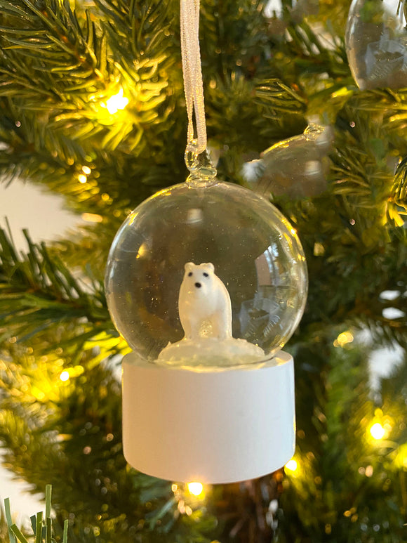 Animal Snow Globe - Polar Bear (Personalized)