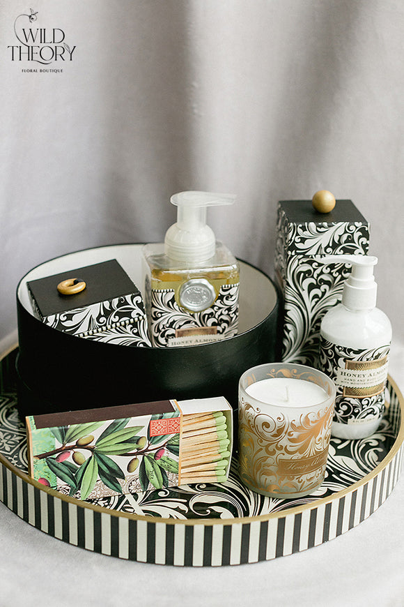 Black Florentine Pattern Basket