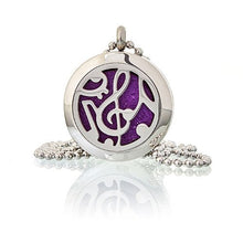 Load image into Gallery viewer, Aromatherapy Diffuser Necklace - Music Notes 25mm - Enchanted Gifts by Karen