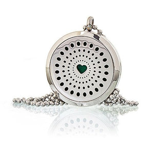 Aromatherapy Diffuser Necklace - Diamonds Heart 30mm - Enchanted Gifts by Karen