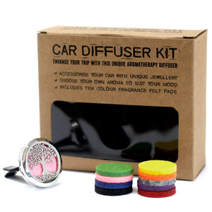 Aromatherapy Car Diffuser Kit  - Tree of Life-30mm - Enchanted Gifts by Karen