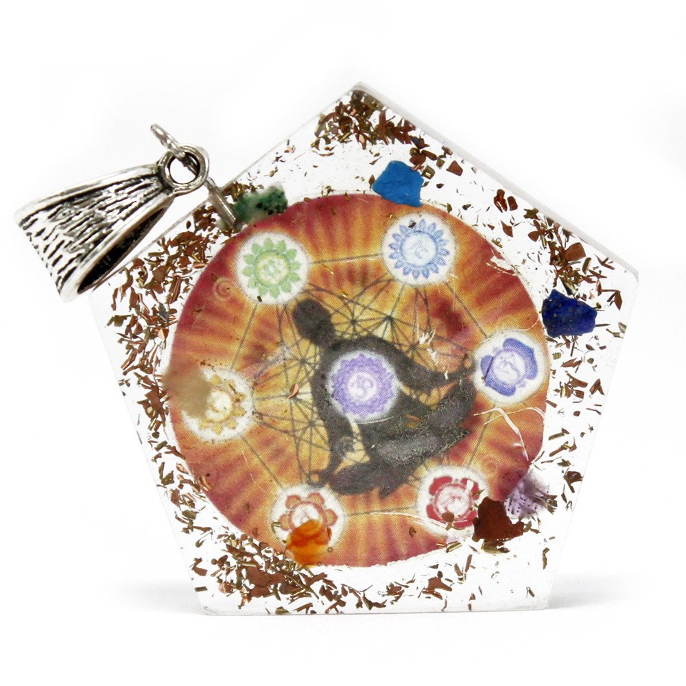 Orgonite Power Pendant - Pentagon Chakra - Enchanted Gifts by Karen