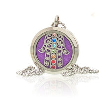 Load image into Gallery viewer, Aromatherapy Jewellery Necklace - Hamsa Chakra - 30mm - Enchanted Gifts by Karen