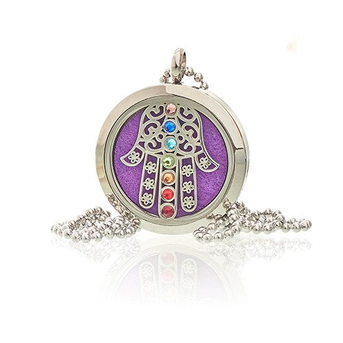 Aromatherapy Jewellery Necklace - Hamsa Chakra - 30mm - Enchanted Gifts by Karen
