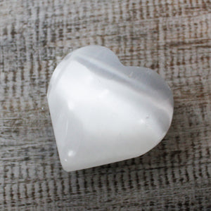 Selenite Heart 5-6cms - Enchanted Gifts by Karen