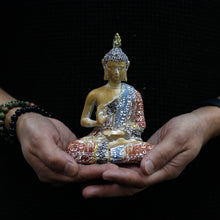 Load image into Gallery viewer, Thai Buddha - Protection - Terracotta & Sky Blue 15 cm - Enchanted Gifts by Karen