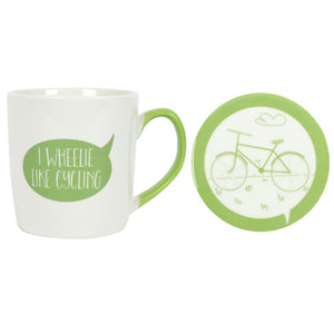 I Wheelie Like Cycling Mug and Coaster Set - Enchanted Gifts by Karen