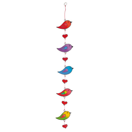 Birds and Hearts on a string Suncatcher - Enchanted Gifts by Karen