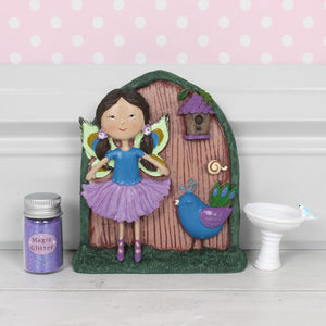 Phoebe and Teal Fairy Door Ornament - Enchanted Gifts by Karen