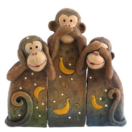 See, Speak, Hear No Evil Monkeys Ornament - Enchanted Gifts by Karen
