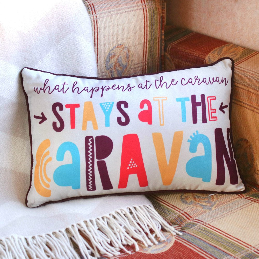 Stays at The Caravan Cushion - Enchanted Gifts by Karen