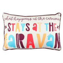 Load image into Gallery viewer, Stays at The Caravan Cushion - Enchanted Gifts by Karen